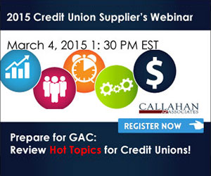 215 Credit Union Supplier's Webinar advertisement