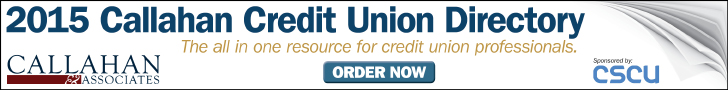 Advertisement for the 2015 Credit Union Directory from Callahan & Associates.