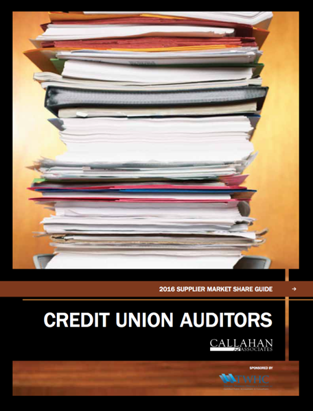 2016 Supplier Market Share Guide: Credit Union Auditors