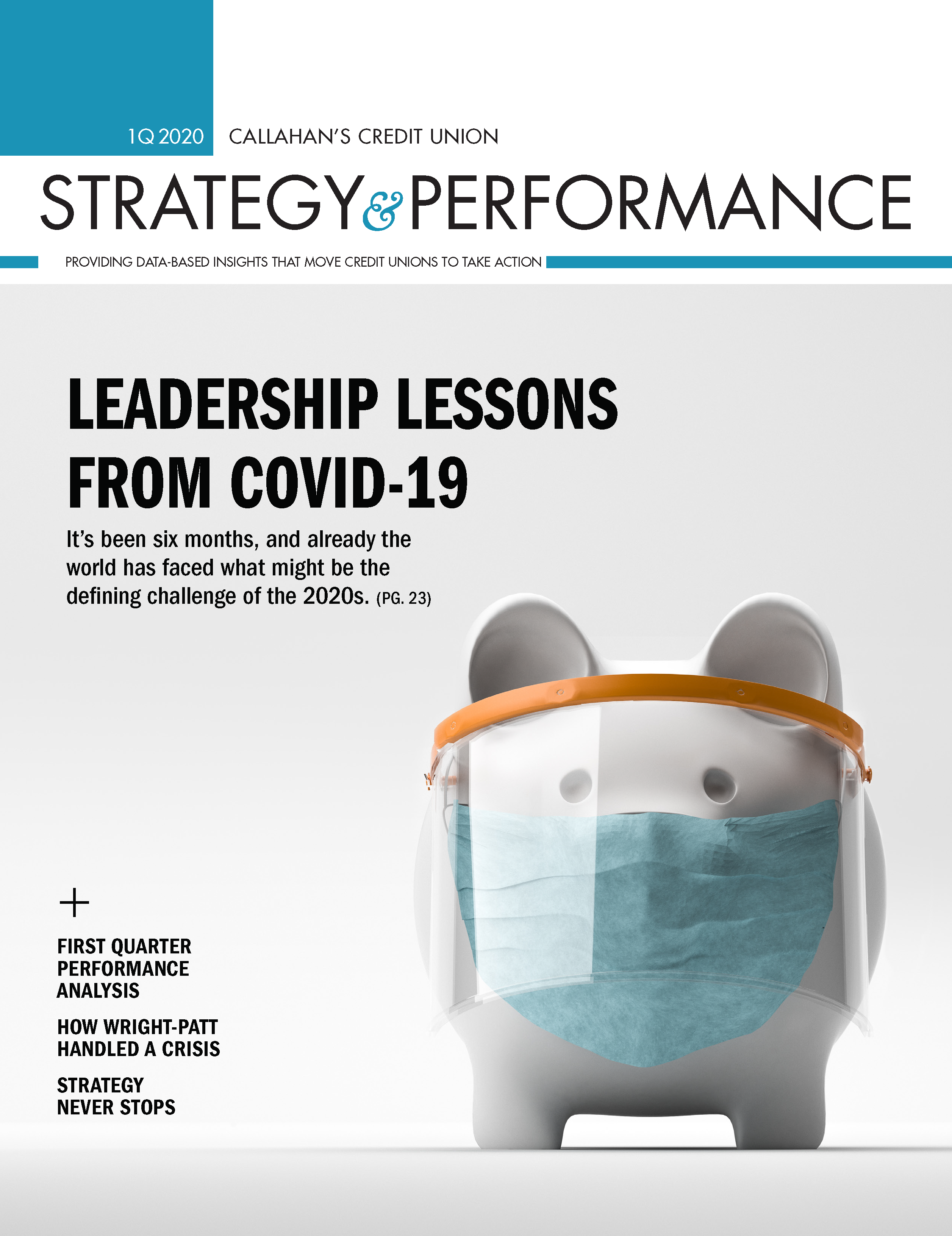 Strategy & Performance 1Q 2020 Cover