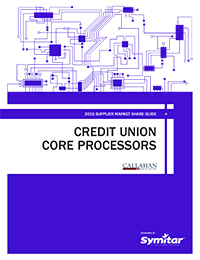 2015 Supplier Market Share Guide: Credit Union Core Procesors