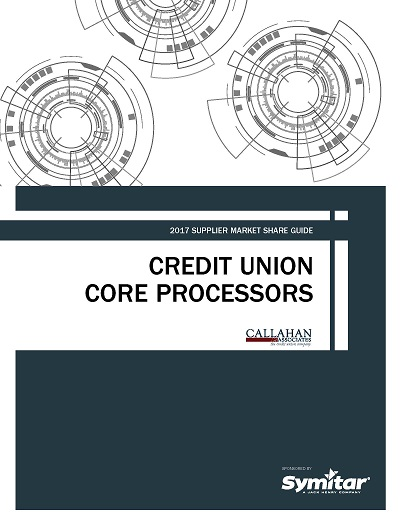 2017 Supplier Market Share Guide: Credit Union Core Procesors