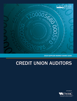 2019 Supplier Market Share Guide: Credit Union Auditors