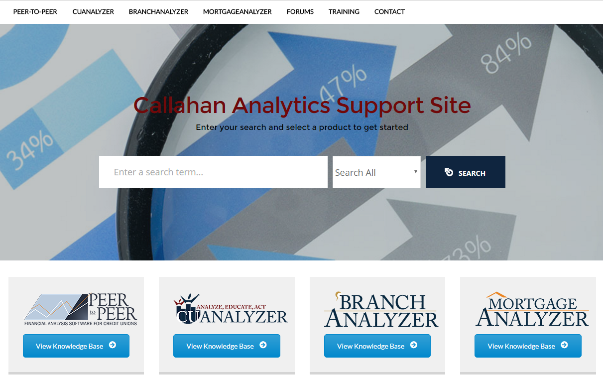 Callahan Analytics Support Site