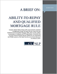 Ability-to-Repay and Qualified Mortgage Rule