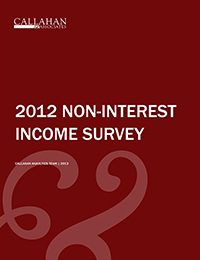 2012 Non Interest Income Survey