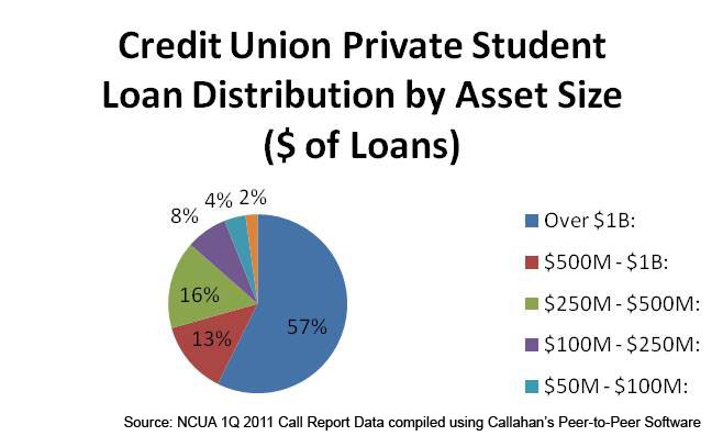 Private Student Loan Distribution by Asset Size